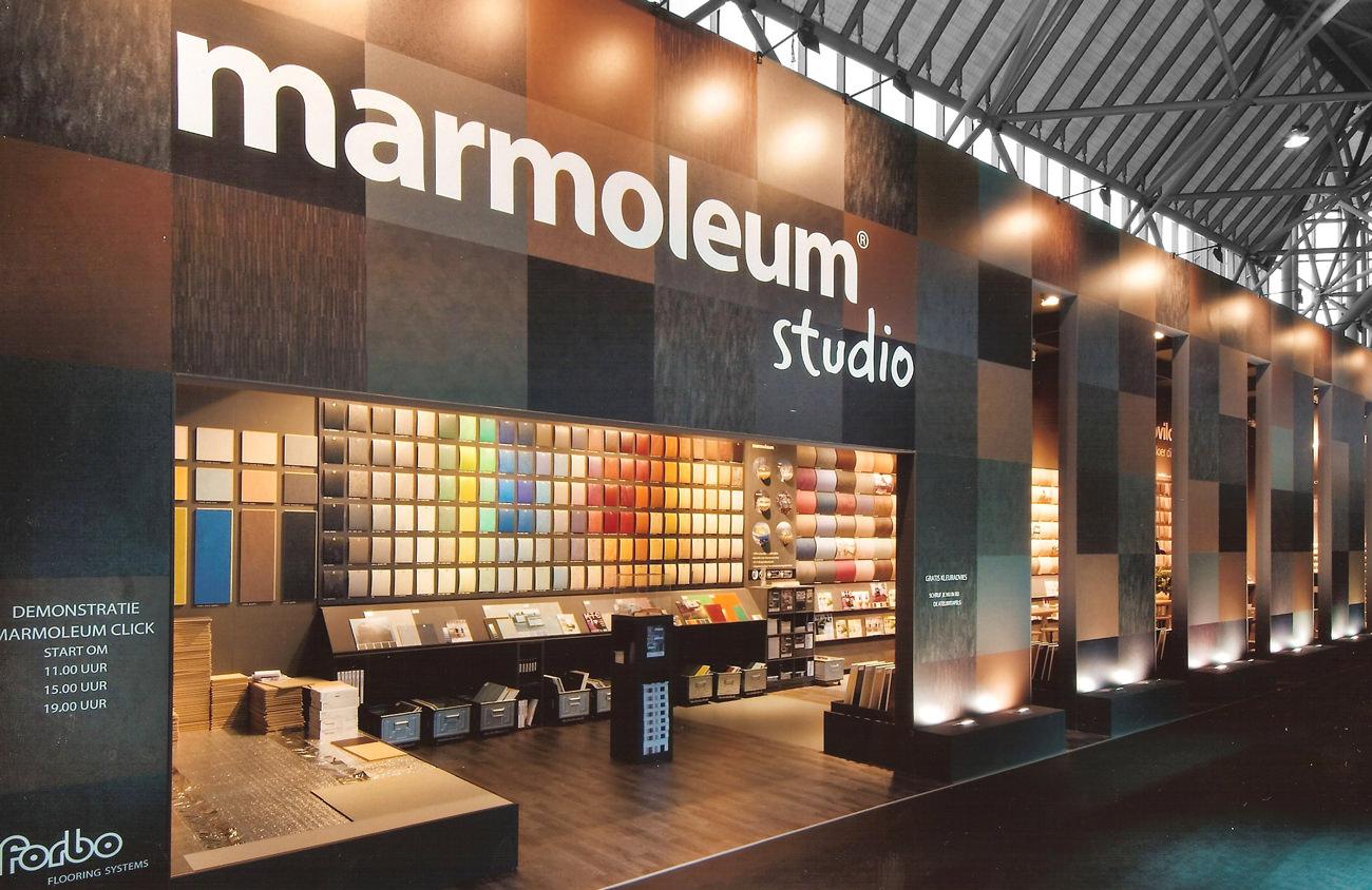 Forbo stand marmoleum studio standbouw emilio expo alkmaar